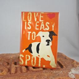 Pit Bull Love is Easy to Spot Dog Art Magnet