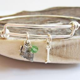 Maltese Mini Bone Stackable Bangle Bracelet