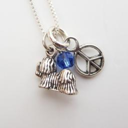Maltese Mini Peace Sterling Silver Necklace