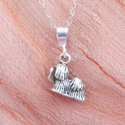 Maltese Mini Pendant Charm and Necklace