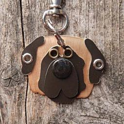 Mastiff Metal Rivet Tag/Keychain