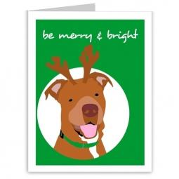 Pit Bull Merry and Bright Holiday Note Cards (#5)