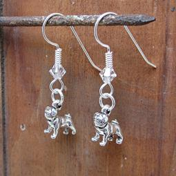 Pug Sterling Silver Earrings
