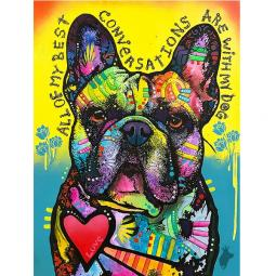 My Best Conversations Indelible Dog Dean Russo Print