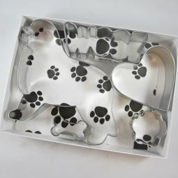 Newfoundland Woof Five Piece Cookie Cutter Set + a Letter!