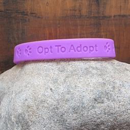 Opt To Adopt Silicone Wristband or Fabric Cuff