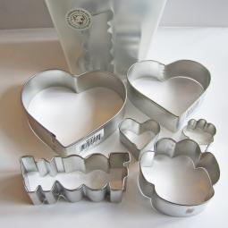 Paw Print Woof Heart Six Piece Cookie Cutter Set