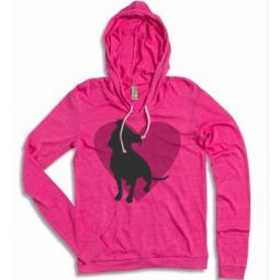 Pit Bull Heart Azalea Ladies' Lightweight Hoodie
