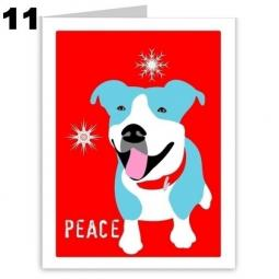 Pit Bull Peace Holiday Note Cards (#11)