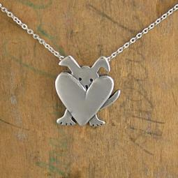 Peek-a-Dog Sterling Silver Necklace