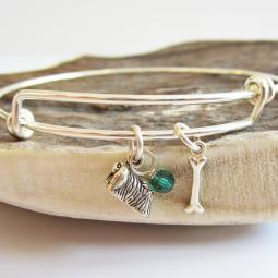 Pekingese Mini Bone Stackable Bangle Bracelet