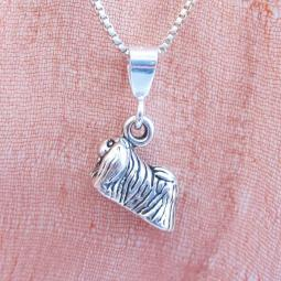 Pekingese Mini Pendant Charm and Necklace