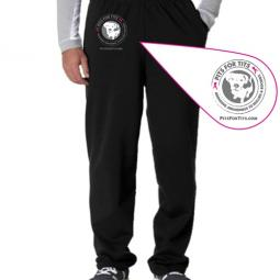 Pits For Tits Open Bottom Unisex Sweatpants (black and navy)