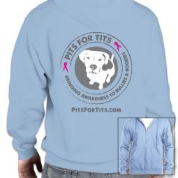Pits For Tits Unisex Zip-Up Hoodie (multi colors)