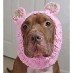 Pink Bear Crochet Snood
