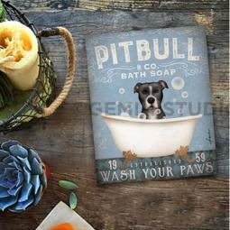 Pit Bull Bath Soap Company 8x10 Giclee Print (multi color)