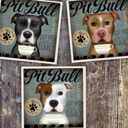 Pit Bull Coffee Company 10x10 Giclee Print (multi colors)