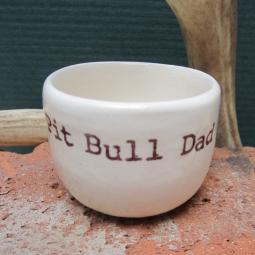 Handmade Pit Bull Dad Ceramic Mini Dish