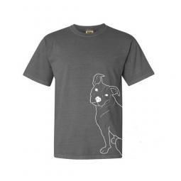 Pit Bull Outline Unisex T-Shirt