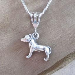 Pit Bull Large Pendant Charm and Necklace