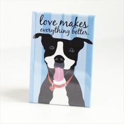 Pit Bull Love Blue Pocket Mirror