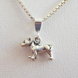 Pit Bull Mini Pendant Charm and Necklace