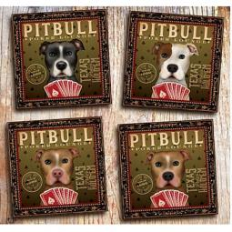 Pit Bull Poker Lounge 10x10 Giclee Print (multi colors)