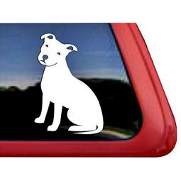 Pit Bull Sitting Large Decal
