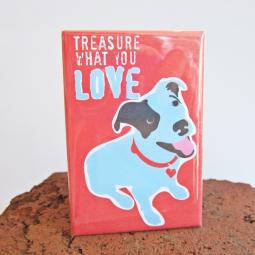 Pit Bull Treasure Art Magnet