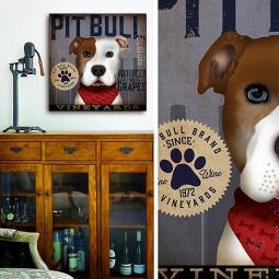 Pit Bull Wine Company 10x10 Giclee Print (multi colors)