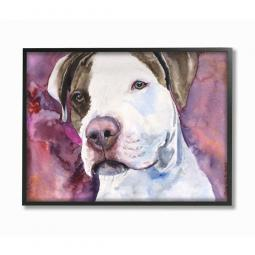 Pit Bull Watercolor Wall Art Plaque