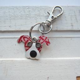 Mini Pittie Pattern Red Limited Edition Keychain