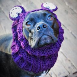 Plum Bear Crochet Snood