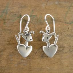 Pocket Pup Sterling Silver Earrings