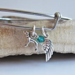 Pointer Mini Angel Wing Stackable Bangle Bracelet