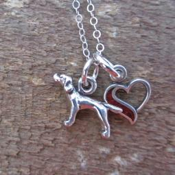 Pointer In My Heart Mini Sterling Silver Necklace