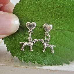 Pointer Mini Heart Sterling Silver Earrings