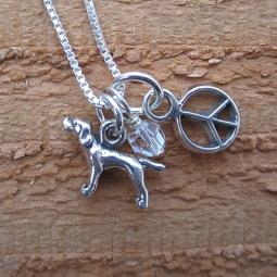 Pointer Mini Peace Sterling Silver Necklace