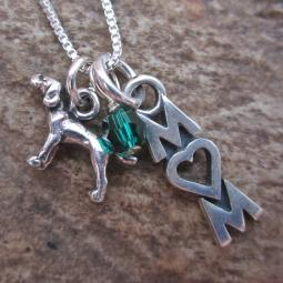 Pointer Mom Mini Sterling Silver Necklace