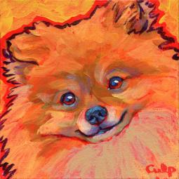 Pomeranian Smiling Print - ONLY 1 LEFT