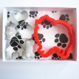 Pomeranian Six Piece Cookie Cutter Set + a Letter!
