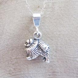 Pomeranian Mini Pendant Charm and Necklace