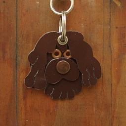 Portuguese Water Dog Metal Rivet Tag/Keychain