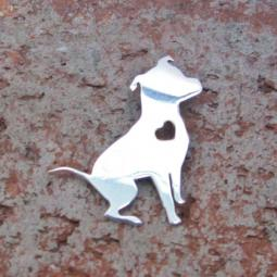 Pretty Pittie Sterling Silver Charm