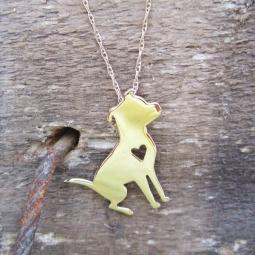Pretty Pittie 14K Gold Necklace