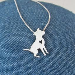 Pretty Pittie Sterling Silver Necklace
