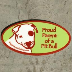 Proud Parent of a Pit Bull Oval Magnet