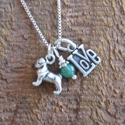 Pug Love Mini Sterling Silver Necklace