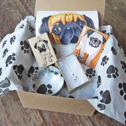 Pug Lover Mini Gift Box
