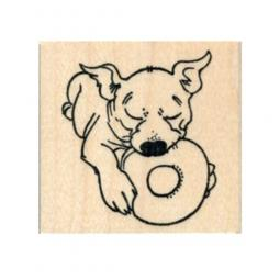 Puppy with Toy Rubber Stamp